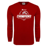 Cardinal Long Sleeve T Shirt-Heartland Conference Tournament Champions Womens Tennis 2016