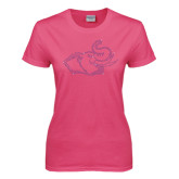 Ladies Fuchsia T Shirt-Rosie