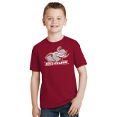 Youth Cardinal T Shirt-Rosie with Rose-Hulman