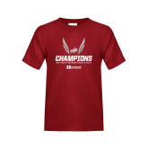 Youth Cardinal T Shirt-2017 HCAC Mens Outdoor Track and Field Champions