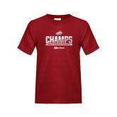 Youth Cardinal T Shirt-2017 HCAC Mens Tennis Champions