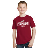 Youth Cardinal T Shirt-Mens Swimming and Diving Champions