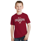 Youth Cardinal T Shirt-2018 Mens Cross Country Champions