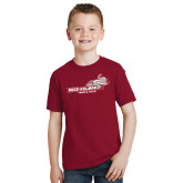 Youth Cardinal T Shirt-Track & Field