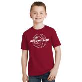 Youth Cardinal T Shirt-Rose-Hulman Basketball w/ Lined Ball