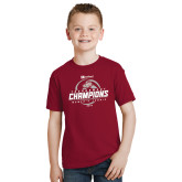 Youth Cardinal T Shirt-Heartland Conference Tournament Champions Womens Tennis 2016