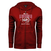 ENZA Ladies Cardinal Fleece Full Zip Hoodie-2017 HCAC Mens Tennis Champions