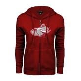 ENZA Ladies Cardinal Fleece Full Zip Hoodie-Rosie