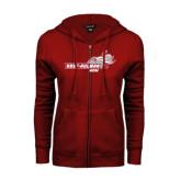 ENZA Ladies Cardinal Fleece Full Zip Hoodie-Mom