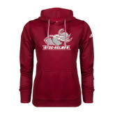 Adidas Climawarm Cardinal Team Issue Hoodie-Rosie with Rose-Hulman