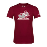 Adidas Cardinal Logo T Shirt-Rosie with Rose-Hulman