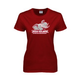 Ladies Cardinal T Shirt-Official Logo