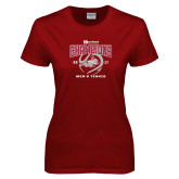 Ladies Cardinal T Shirt-2017 HCAC Mens Tennis Champions