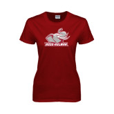 Ladies Cardinal T Shirt-Rosie with Rose-Hulman