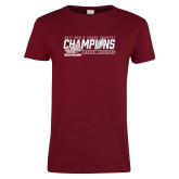 Ladies Cardinal T Shirt-2017 Mens Cross Country Champions