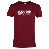 Ladies Cardinal T Shirt-2017 Womens Cross Country Champions