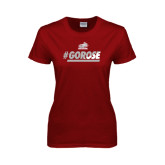 Ladies Cardinal T Shirt-#GoRose