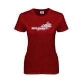 Ladies Cardinal T Shirt-Track & Field
