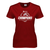 Ladies Cardinal T Shirt-Heartland Conference Tournament Champions Womens Tennis 2016