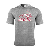 Performance Grey Heather Contender Tee-Rosie with Rose-Hulman
