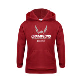 Youth Cardinal Fleece Hoodie-2017 HCAC Mens Outdoor Track and Field Champions