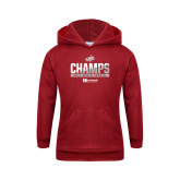 Youth Cardinal Fleece Hoodie-2017 HCAC Mens Tennis Champions