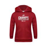 Youth Cardinal Fleece Hoodie-2017 HCAC Mens Tennis Champions