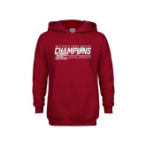 Youth Cardinal Fleece Hoodie-2017 Mens Cross Country Champions