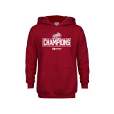 Youth Cardinal Fleece Hoodie-Mens Swimming and Diving Champions