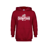 Youth Cardinal Fleece Hoodie-Mens Track and Field Champions