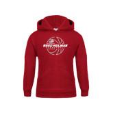Youth Cardinal Fleece Hoodie-Rose-Hulman Basketball w/ Lined Ball