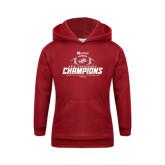 Youth Cardinal Fleece Hoodie-Heartland Conference Champions Football 2016