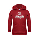 Youth Cardinal Fleece Hoodie-Heartland Conference Tournament Champions Womens Tennis 2016
