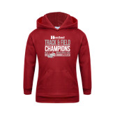 Youth Cardinal Fleece Hoodie-Heartland Conference Tournament Champions Mens Indoor Track and Field 2017