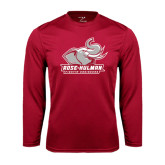 Performance Cardinal Longsleeve Shirt-Official Logo