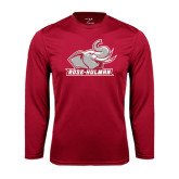 Performance Cardinal Longsleeve Shirt-Rosie with Rose-Hulman