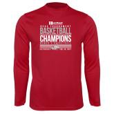 Syntrel Performance Cardinal Longsleeve Shirt-HCAC Tournament Champions - Womens Basketball Stacked