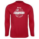 Syntrel Performance Cardinal Longsleeve Shirt-2017 HCAC Tournament Champions - Womens Basketball Lined Ball