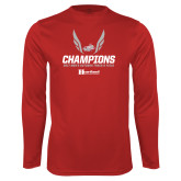 Performance Cardinal Longsleeve Shirt-2017 HCAC Mens Outdoor Track and Field Champions
