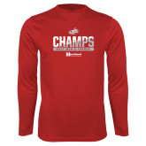 Performance Cardinal Longsleeve Shirt-2017 HCAC Mens Tennis Champions
