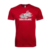 Next Level SoftStyle Cardinal T Shirt-Rosie with Rose-Hulman