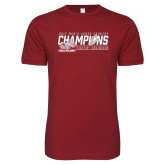 Next Level SoftStyle Cardinal T Shirt-2017 Mens Cross Country Champions