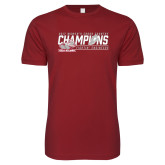 Next Level SoftStyle Cardinal T Shirt-2017 Womens Cross Country Champions