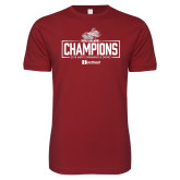 Next Level SoftStyle Cardinal T Shirt-Mens Swimming and Diving Champions