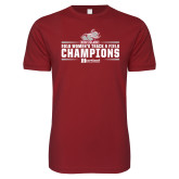 Next Level SoftStyle Cardinal T Shirt-Womens Track and Field Champions