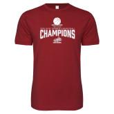 Next Level SoftStyle Cardinal T Shirt-Womens Basketball Champions