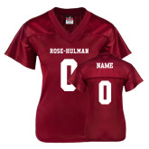 Ladies Cardinal Replica Football Jersey-Personalized