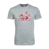 Next Level SoftStyle Heather Grey T Shirt-Rosie with Rose-Hulman