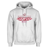 White Fleece Hoodie-Mens Track And Field Champions