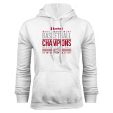 White Fleece Hoodie-HCAC Tournament Champions - Womens Basketball Stacked